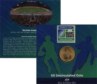 Изображение Подарочные монеты Австралия Регби 2003   `Подарочный нрабор п