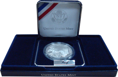 Изображение Подарочные монеты США 1 доллар 2001 Серебро Proof Железный Хвост - вож