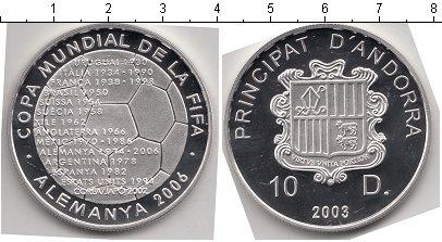 Картинка Монеты Андорра 10 динерс Серебро 2003