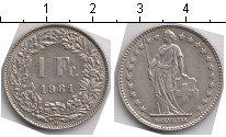 Изображение Мелочь Швейцария 1 франк 1961 Серебро VF