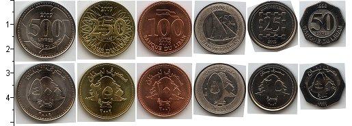 Изображение Наборы монет Ливан Ливан 1996-2009 0  UNC- В наборе 6 монет ном