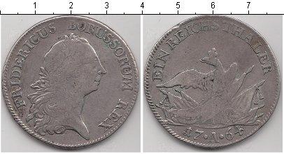 Картинка Монеты Пруссия 1 талер Серебро 1764