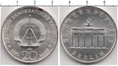Картинка Монеты ГДР 20 марок Медно-никель 1990