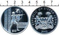 Изображение Монеты Сьерра-Леоне 10 леоне 2003 Серебро Proof- Олимпиада 2004 года