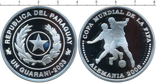 Картинка Монеты Парагвай 1 гуарани Серебро 2003