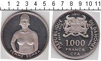 Изображение Монеты Дагомея 1000 франков 1971 Серебро Proof- Женщина Somba