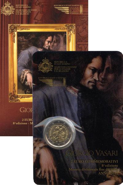 Изображение Подарочные наборы Сан-Марино Джорджо Вазари-итальянский живописец 2011 Биметалл UNC