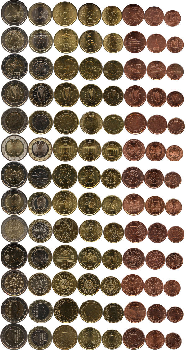 Картинка Подарочные наборы Евросоюз 12 Евронаборов  2002