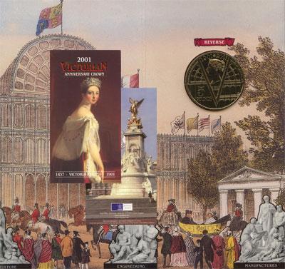Изображение Подарочные монеты Великобритания 100-летие со дня окончания Викторианского правления 2001 Медно-никель UNC Подарочная монета по