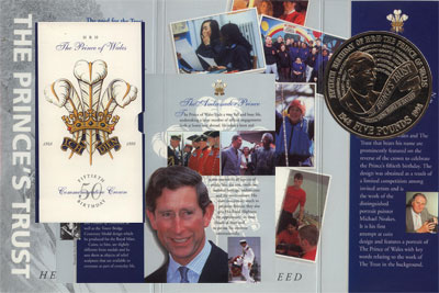 Изображение Подарочные наборы Великобритания 50-летний юбилей Принца Уэльского 1998 Медно-никель UNC Подарочная монета по
