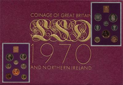Изображение Подарочные монеты Великобритания Выпуск монет 1970 года 1970  AUNC Выпуск монет 1970 го
