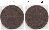 Изображение Монеты Бавария 1 пфенниг 1865 Медь VF