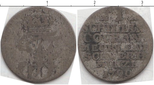 Картинка Монеты Мекленбург-Шверин 1 шиллинг Серебро 1790