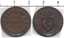 Изображение Монеты Нассау 1 крейцер 1855 Медь VF C# 53