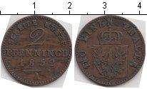 Изображение Монеты Пруссия 2 пфеннига 1852 Медь