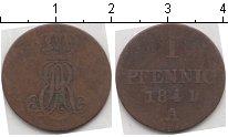 Изображение Монеты Ганновер 1 пфенниг 1841 Медь VF