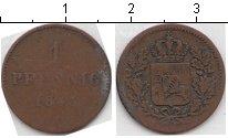Изображение Монеты Бавария 1 пфенниг 1843 Медь