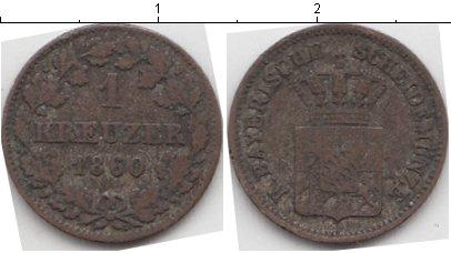 Картинка Монеты Бавария 1 крейцер Серебро 1860