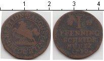 Изображение Монеты Брауншвайг-Вольфенбюттель 1 пфенниг 1730 Медь