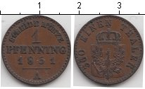 Изображение Монеты Пруссия 1 пфенниг 1851 Медь VF