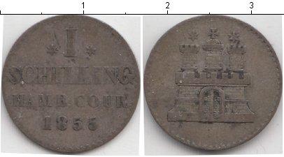 Картинка Монеты Гамбург 1 шиллинг Серебро 1855