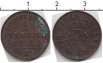 Изображение Монеты Пруссия 1 пфенниг 1853 Медь XF А