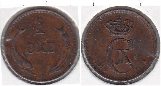 Картинка Монеты Дания 1 эре Медь 1875