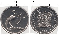 Изображение Мелочь ЮАР 5 центов 0 Медно-никель UNC-