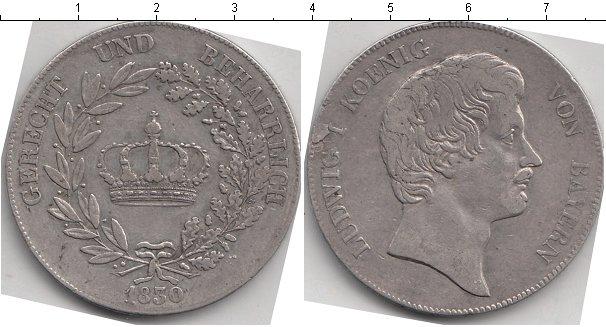 Картинка Монеты Бавария 1 талер Серебро 1830