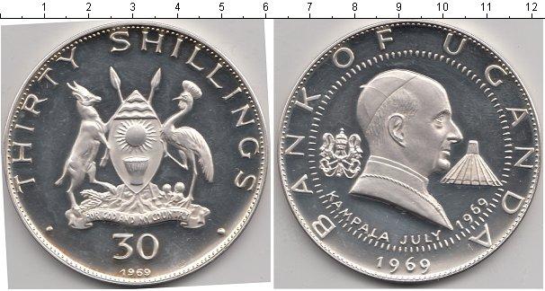 Картинка Монеты Уганда 30 шиллингов Серебро 1969