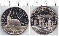 Изображение Мелочь США 1/2 доллара 1986 Медно-никель Proof `100-летие ``Статуи