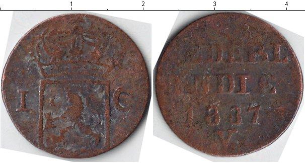 Картинка Монеты Нидерландская Индия 1 цент Медь 1837