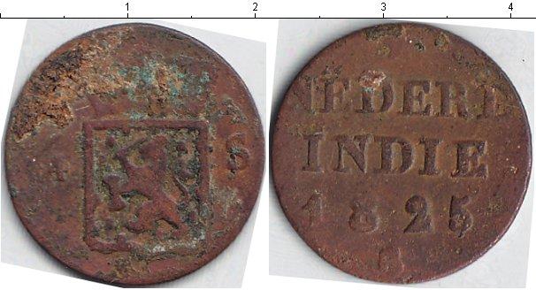 Картинка Монеты Нидерландская Индия 1/4 стюбера Медь 1825