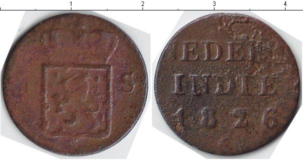 Картинка Монеты Нидерландская Индия 1/4 стювера Медь 1826