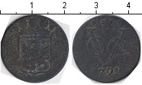 Изображение Монеты Нидерландская Индия 1 дьюит 1792 Медь VF