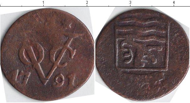 Картинка Монеты Нидерландская Индия 1 дьюит Медь 1791