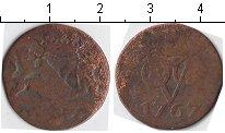 Изображение Монеты Нидерландская Индия 1 дьюит 1767 Медь VF Утрехт