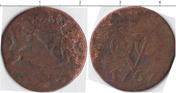 Картинка Монеты Нидерландская Индия 1 дьюит Медь 1767