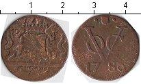 Изображение Монеты Нидерландская Индия 1 дьюит 1786 Медь VF Утрехт
