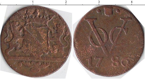 Картинка Монеты Нидерландская Индия 1 дьюит Медь 1786