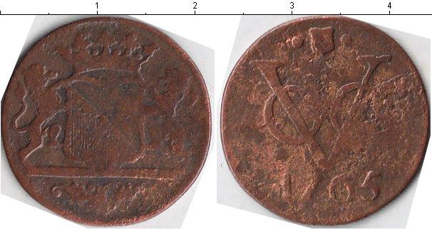 Картинка Монеты Нидерландская Индия 1 дьюит Медь 1765