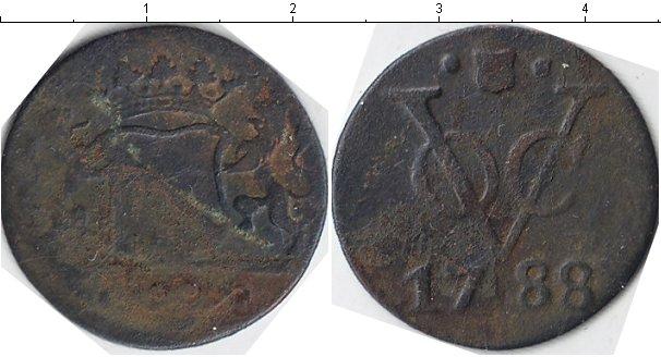 Картинка Монеты Нидерландская Индия 1 дьюит Медь 1788