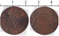 Изображение Монеты Нидерландская Индия 1 дьюит 1781 Медь VF Утрехт