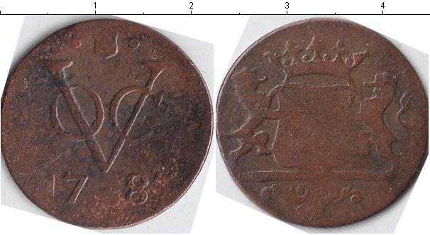 Картинка Монеты Нидерландская Индия 1 дьюит Медь 1781