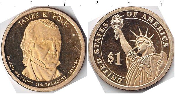 Купить монету сша 1 доллар медь - 2009 год.
