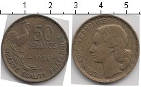 Изображение Мелочь Франция 50 франков 1951 Медно-никель VF ..