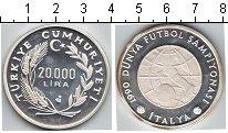 Изображение Монеты Турция 20000 лир 1990 Серебро Proof Чемпионат мира по фу