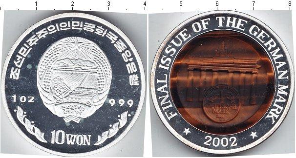 Картинка Монеты Северная Корея 10 вон Серебро 2002