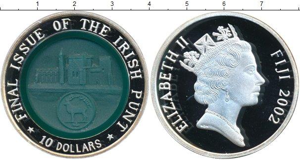 Картинка Монеты Фиджи 10 долларов Серебро 2002