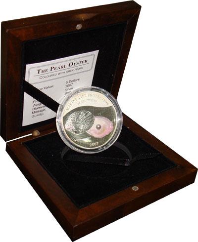 Изображение Подарочные монеты Палау Жемчужина 2007 Серебро Proof-